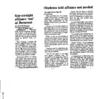 Gay-straight alliance 'out' at Burncoat,Telegram and Gazette (December 14, 1995)