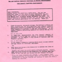GLCCCM City Council Candidate Questionnaire - Konstantina B. Lukes, October 1993