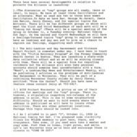 The Alliance Meeting Items of Interest, September 1988