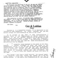 Worcester Gay Newsletter, November 1, 1992