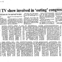 Local TV show involved in 'outing' congressman,Telegram and Gazette (August 5, 1996)